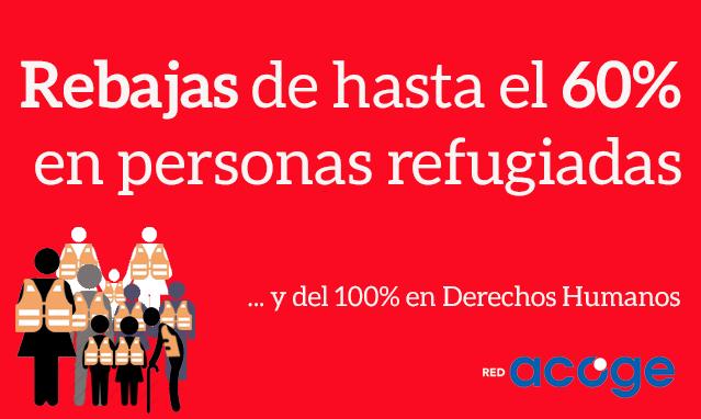 Rebajas de hasta el 60% en personas refugiadas