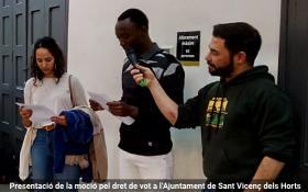 Moció pel dret de vot Sant Vicenç dels Horts